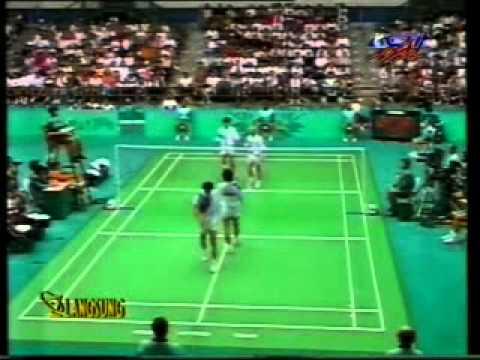 Final Bulutangkis Ganda Putra Olimpiade - Ricky/Rexy VS Yap/Cheah @ RCTI 31 Juli 1996 (Set 1)