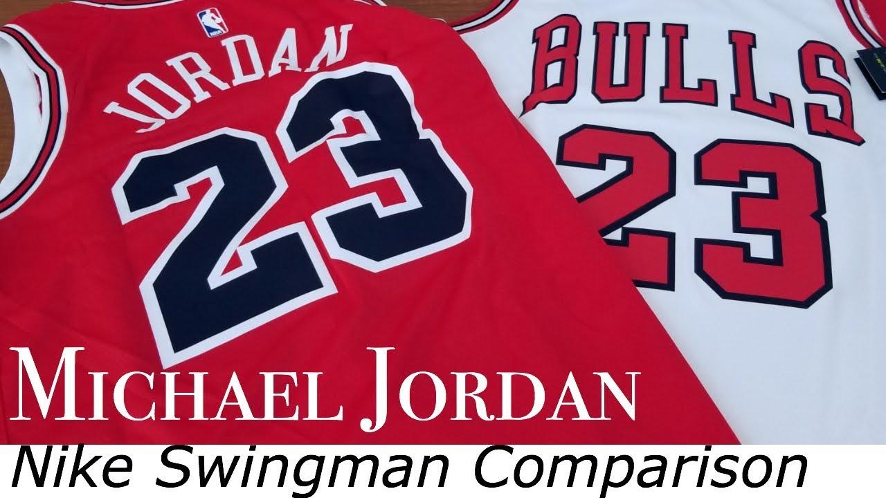 new arrival 60513 d3a2d Nike Michael Jordan Swingman Jersey Icon & Association Comparison