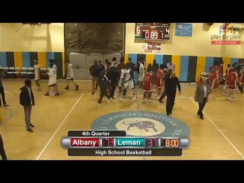 Boys Basketball: Léman Manhattan vs. Albany Academy