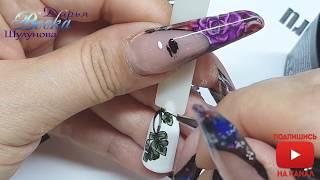 Модный дизайн ногтей  Листья монстеры  Просто и быстро