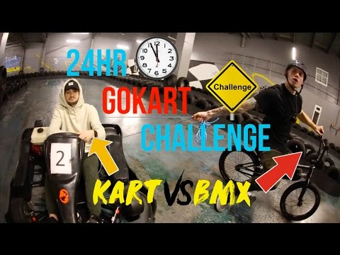 OVERNIGHT CHALLENGE IN A GOKART TRACK (SUCCESS)