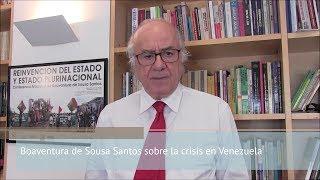 Boaventura de Sousa Santos sobre la crisis en Venezuela