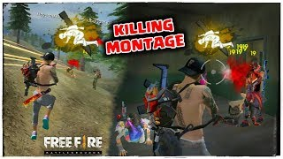 FREE FIRE RANKED SQUAD KILLS MONTAGE HIGHLIGHTS GAMEPLAY // 200K SUBS LOVE YOU !!!