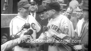 1938 World Series Yankees vs Chicago  archival footage