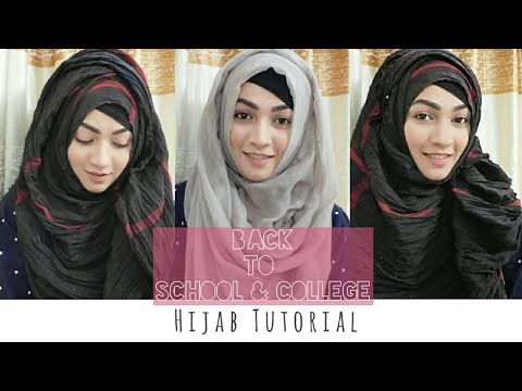 Easy 3 Hijab Style for Back to School \u0026 College