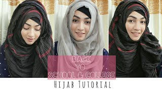 Easy 3 Hijab Style for Back to School & College | Pari ZaaD