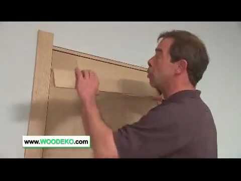 Houten deur installeren woodeko youtube for Zelf zoldertrap maken