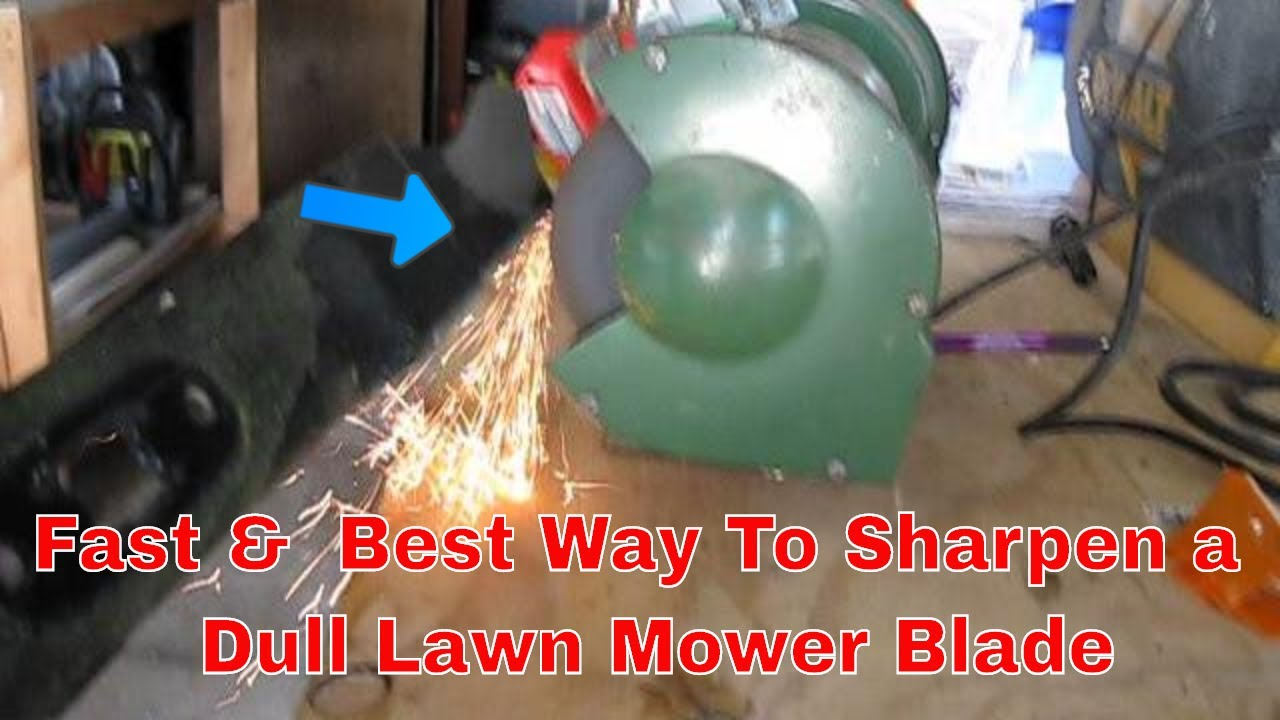 How To Use A Bench Grinder To Sharpen Lawn Mower Blades