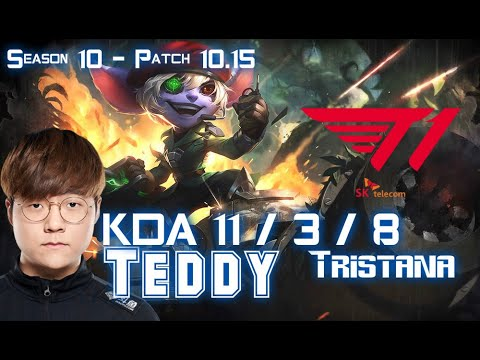 T1 Teddy TRISTANA vs ASHE ADC - Patch 10.15 KR Ranked