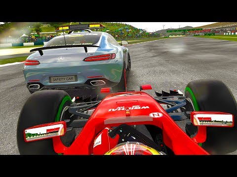 GETTING TOO CLOSE TO A SAFETY CAR - F1 2017 Mod Career Mode Part 14: Malaysia