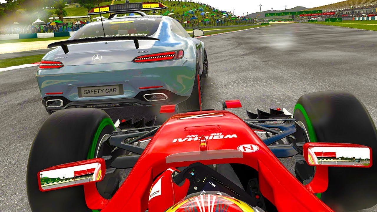 Getting Too Close To A Safety Car F1 2017 Mod Career Mode Part 14 Malaysia