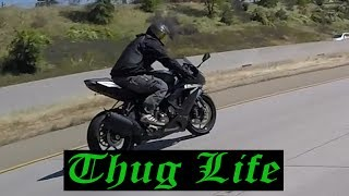 Fast Motorcycles without License Plates | Dumb Drivers with Cell Phones!