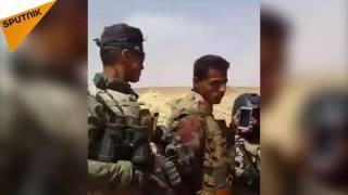 """بالفيديو: العثور على معسكر سري لتدريب أبرز مقاتلي """"داعش"""" في صحراء الأنبار"""