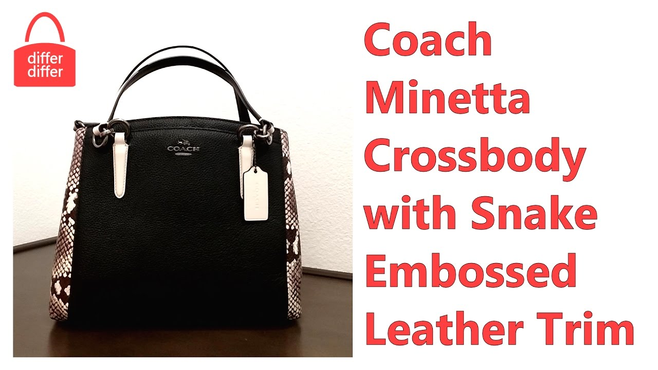 246e6a65bd05 12345678 383fa 01f74 coupon code for coach minetta crossbody with snake  embossed leather trim 57557 946dc 0c11c ...