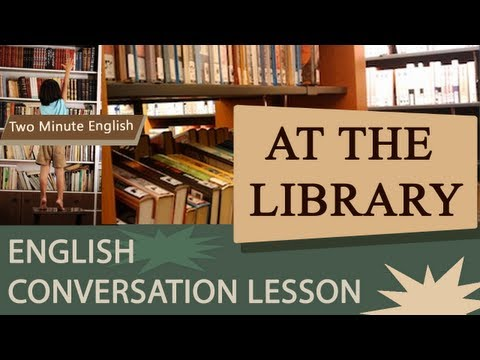 At the Library - Simple English Lesson