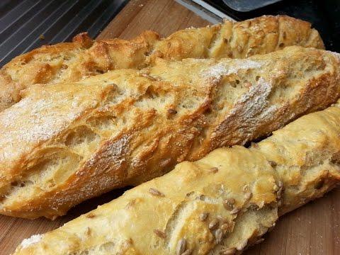 """comment-faire-des-baguettes-de-pain-""""tradition""""-en-90-mn-!"""
