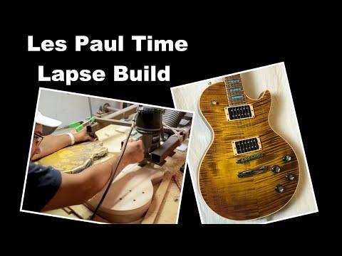Les Paul Guitar Time Lapse Build - My Slash Tribute - Hand Built Guitar
