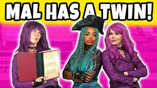 MAL HAS A TWIN. Uma Clones Mal after they Fight. Descendants 3 Movie Video.