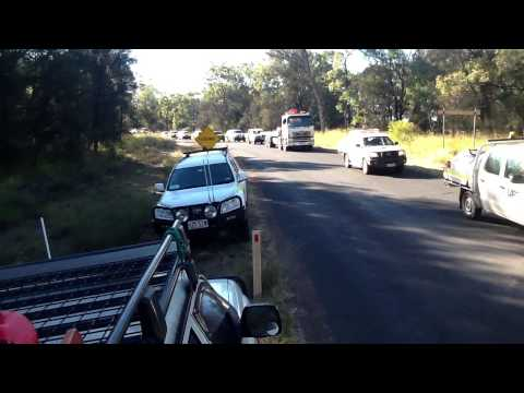 QGC Traffic after a 2 hr blockade tara qld #Protect Australia