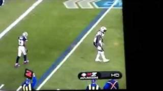 Brandon Spikes does a dance