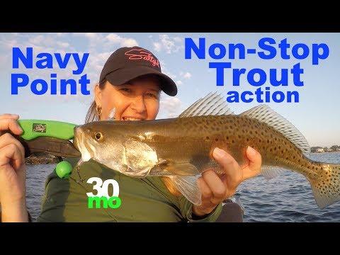 Non-Stop Trout Fishing Action Navy Point - Pensacola Florida