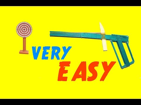 How To Make A Rubber Band Gun Using Popsicle Sticks | Simple Popsicle Sticks Gun
