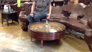 Antique game table, authentic roulette wheel!
