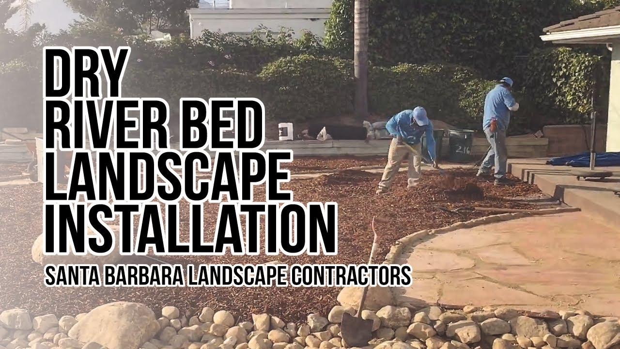 landscaping contractor of dry river bed design youtube