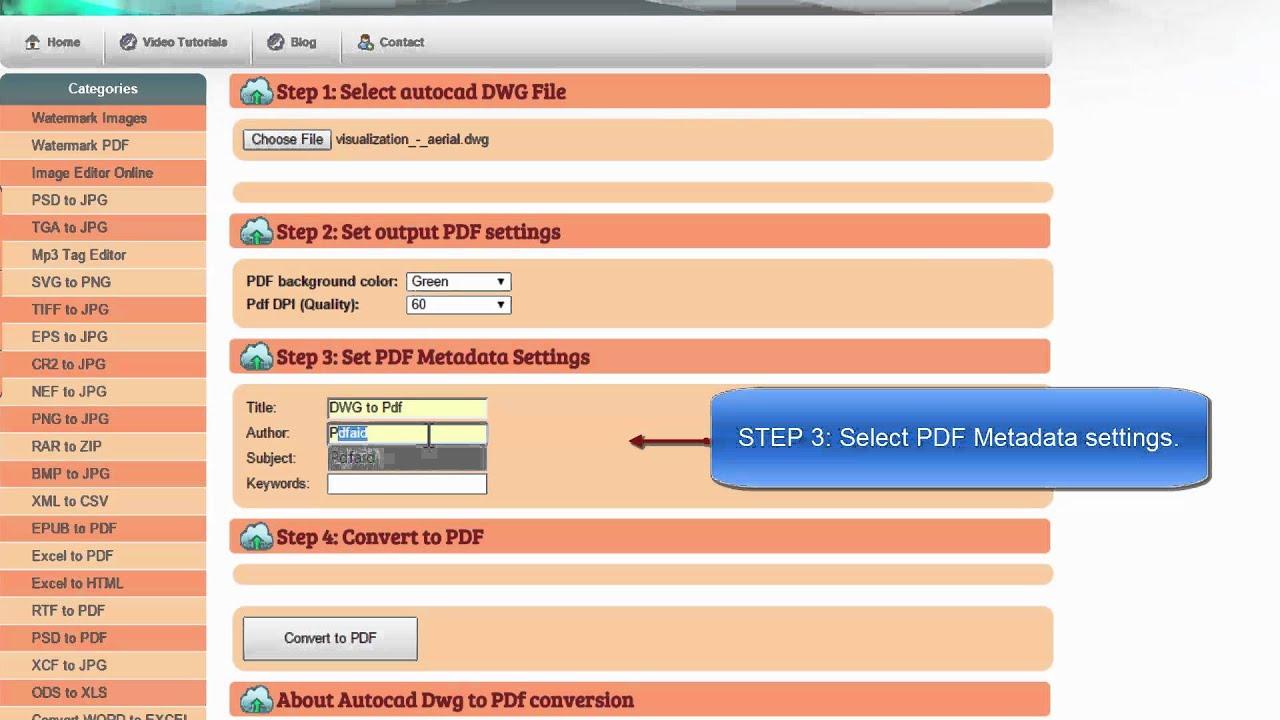 pdf to dwg free conversion