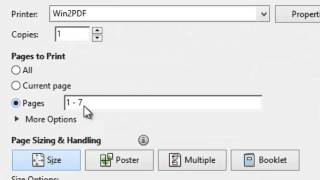How To Delete Pages From an Existing PDF File Using Win2PDF