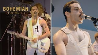 "Bohemian Rhapsody | Live Aid Side by Side: ""Crazy Little Thing Called Love""  
