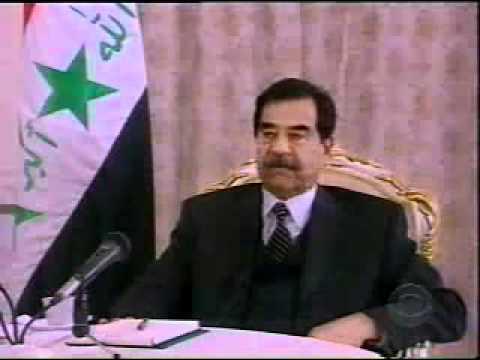Saddam Hussein said he wanted to debate George Bush on television.