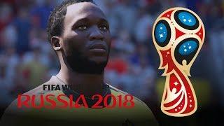 Romelu Lukaku ⚽️ All 4 Goals in 2018 World Cup: Russia (FIFA 18 Remake)