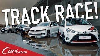 Track Race - Polo GTI vs Yaris GRMN vs Renault Clio RS F1 vs Mini Cooper S