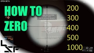 BF4 Beta: Long Range Sniping Tips - How to Zero / Zeroing Guide - Goodbye Bullet Drop :)