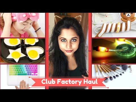 Unique CLUB FACTORY Haul | Coupon Code | Free Gift | Free Shipping to India