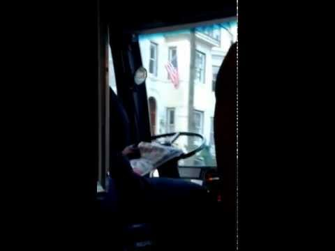 WMATA Bus Driver Reads the Paper