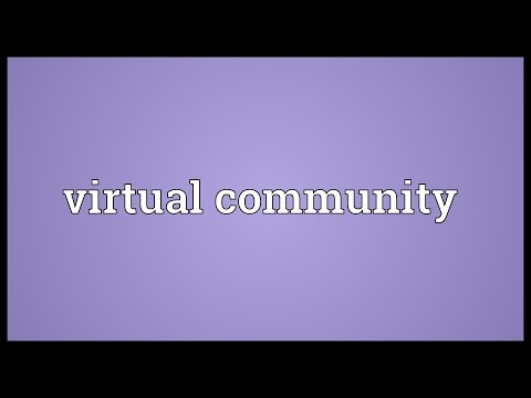 Virtual community Meaning