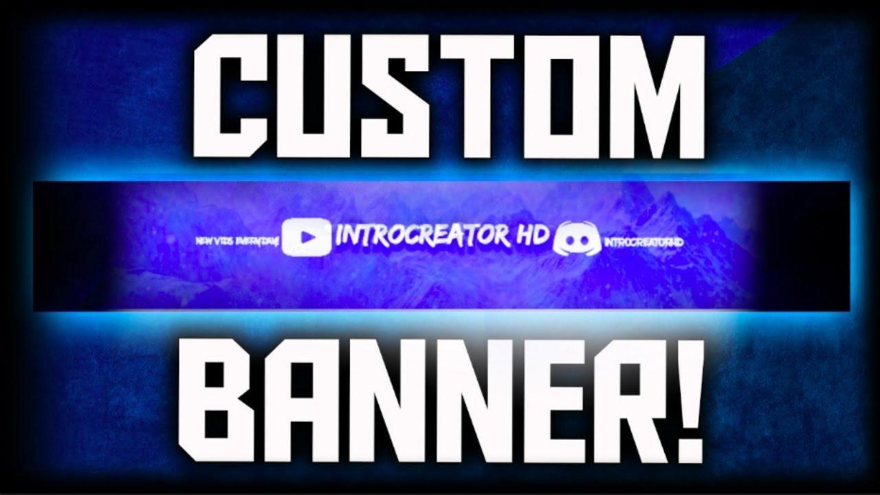 how to make a custom youtube banner