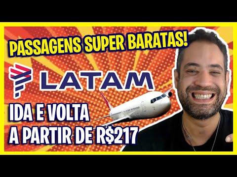 PASSAGENS SUPER BARATAS DA LATAM! PREÇOS A PARTIR DE R$217 HOJE!