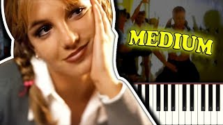 BRITNEY SPEARS - BABY ONE MORE TIME - Piano Tutorial
