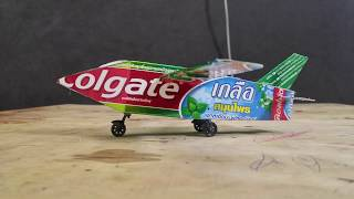 diy - how to make an airplane with colgate