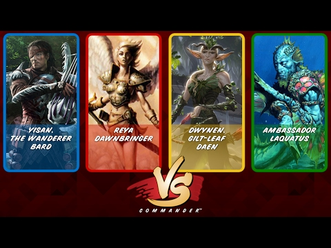 Commander VS S6E4: Yisan vs Reya vs Dwynen vs Laquatus [MTG]
