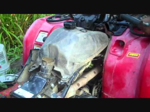hqdefault how to clean out a yamaha kodiak 450 carb youtube 2005 yamaha kodiak 450 wiring diagram at fashall.co