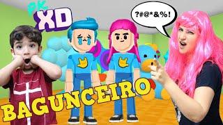 LUCAS VIROU O MAIS BAGUNCEIRO DO PK XD - Família Rocha Games - gameplay - Bagunça