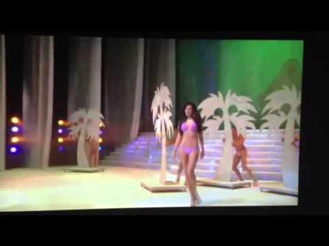 Nastassja Bolívar - en traje de baño en Miss Nicaragua 2013