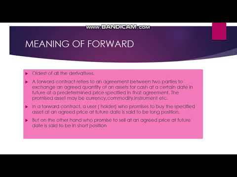 DERIVATIVE PART 1 FINANCIAL SERVICES AND MARKETS