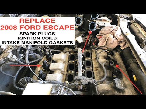 2008-ford-escape-spark-plug,-ignition-coil,-and-intake-manifold-gasket-replacement---duratec-3.0l-v6