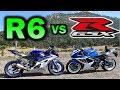 Yamaha R6 VS Suzuki GSX-R 600 Cual es mejor moto ?