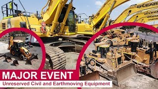 MAJOR EVENT - Unreserved Civil and Earthmoving Equipment
